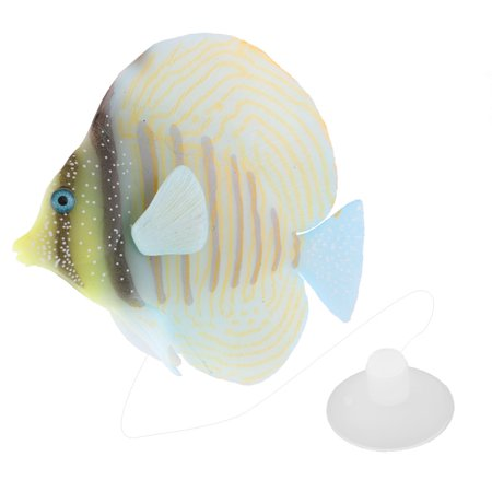 Aquarium silicone artificial glowing effect tropical fish for Walmart fish decor