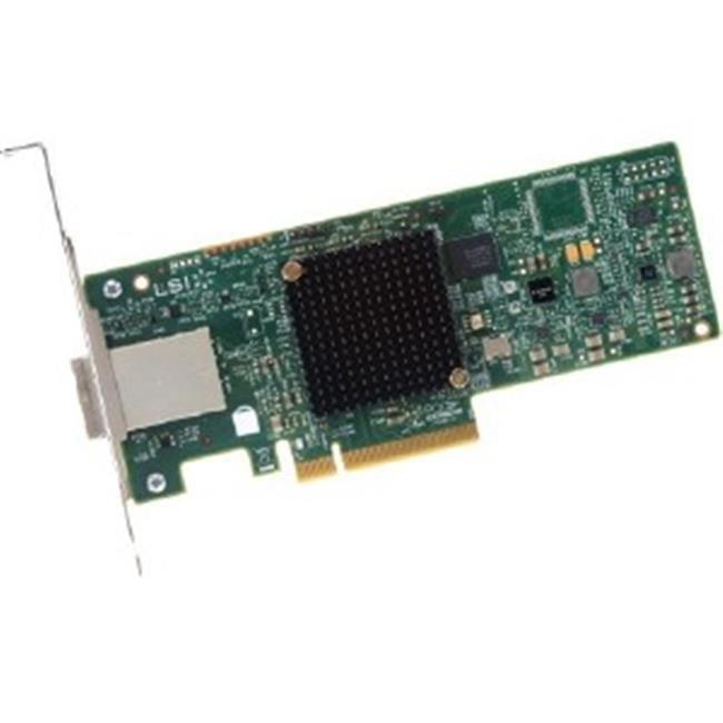 LSI Logic H5-25460-00 Controller Card 9300-8e SAS 8Port 12Gbs PCI-Ecpress 3.0 Brown Box