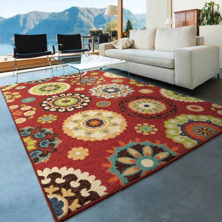 orian rugs bright colors medallion salsalito multi area rug. Black Bedroom Furniture Sets. Home Design Ideas