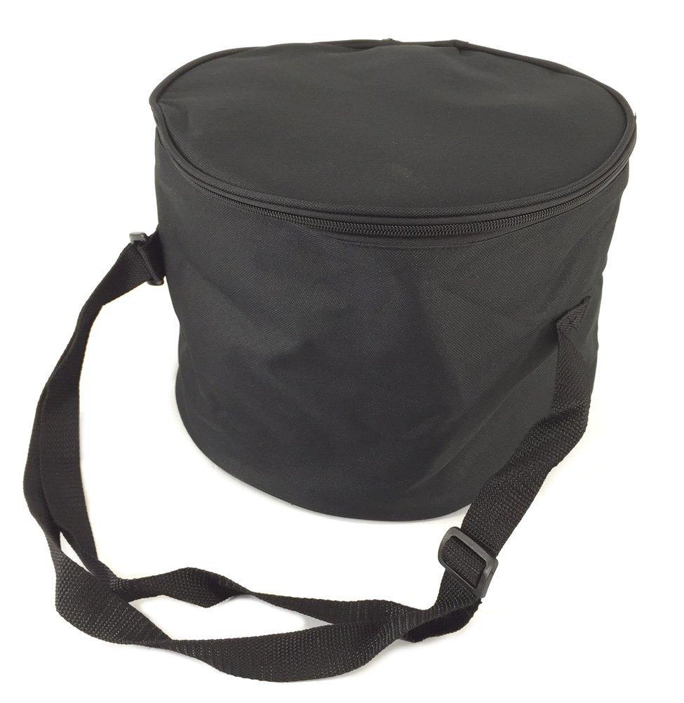 """Padded Tom Tom Drum Gig Bag 10.5"""" x 8"""" Black Adjustable Shoulder Strap,... by"""