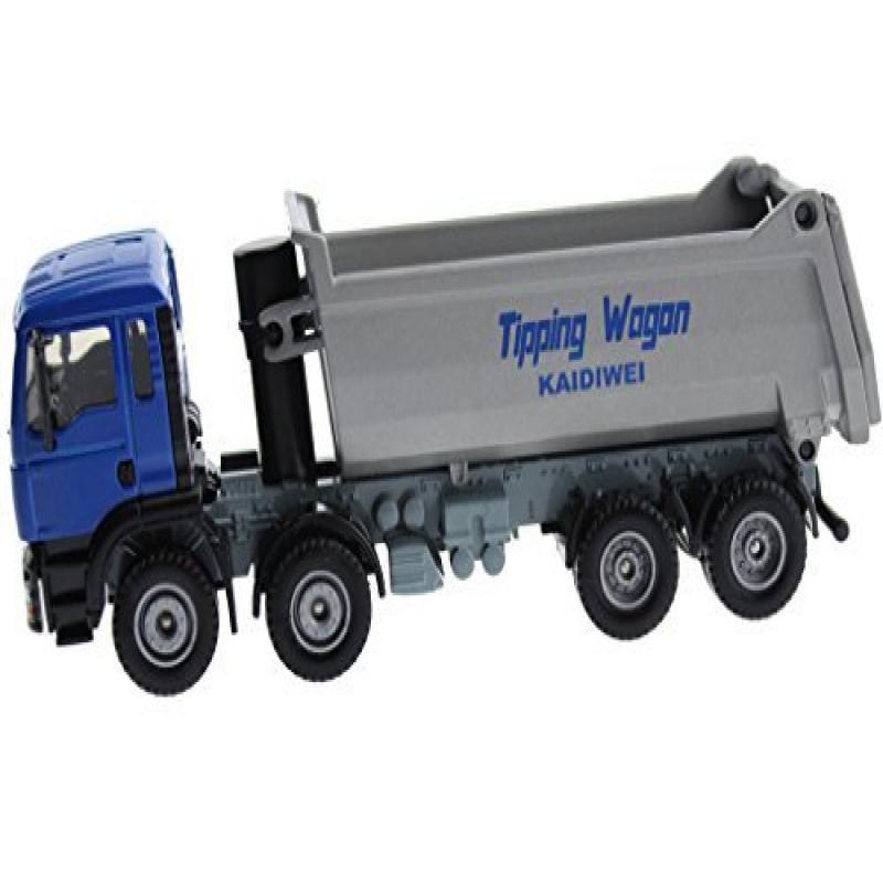 Hugine Alloy 1:50 Dump Truck Diecast Model Blue