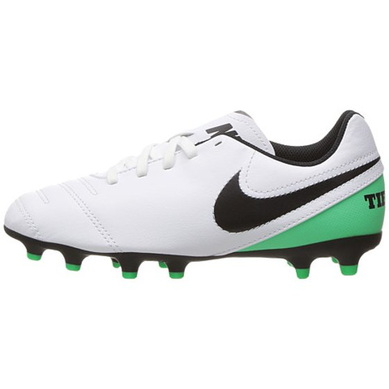 Nike - Nike JR TIEMPO RIO III FG Youth Boys White Green Athletic ... 8ceb3eec9a553