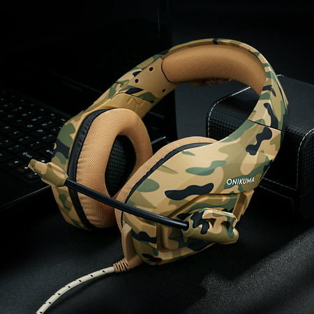 e26edd14fba ONIKUMA K1 Stereo Bass Surround Gaming Headset for PS4 New Xbox One PC with  Mic - Walmart.com