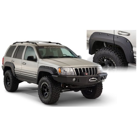 Bushwacker 99-04 Jeep Grand Cherokee Cutout Style Flares 2pc - (Fender Flares For 2005 Jeep Grand Cherokee)