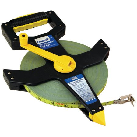 Empire 6720 Open Reel Measuring Tape, 200 ft L X 1 in W, Steel