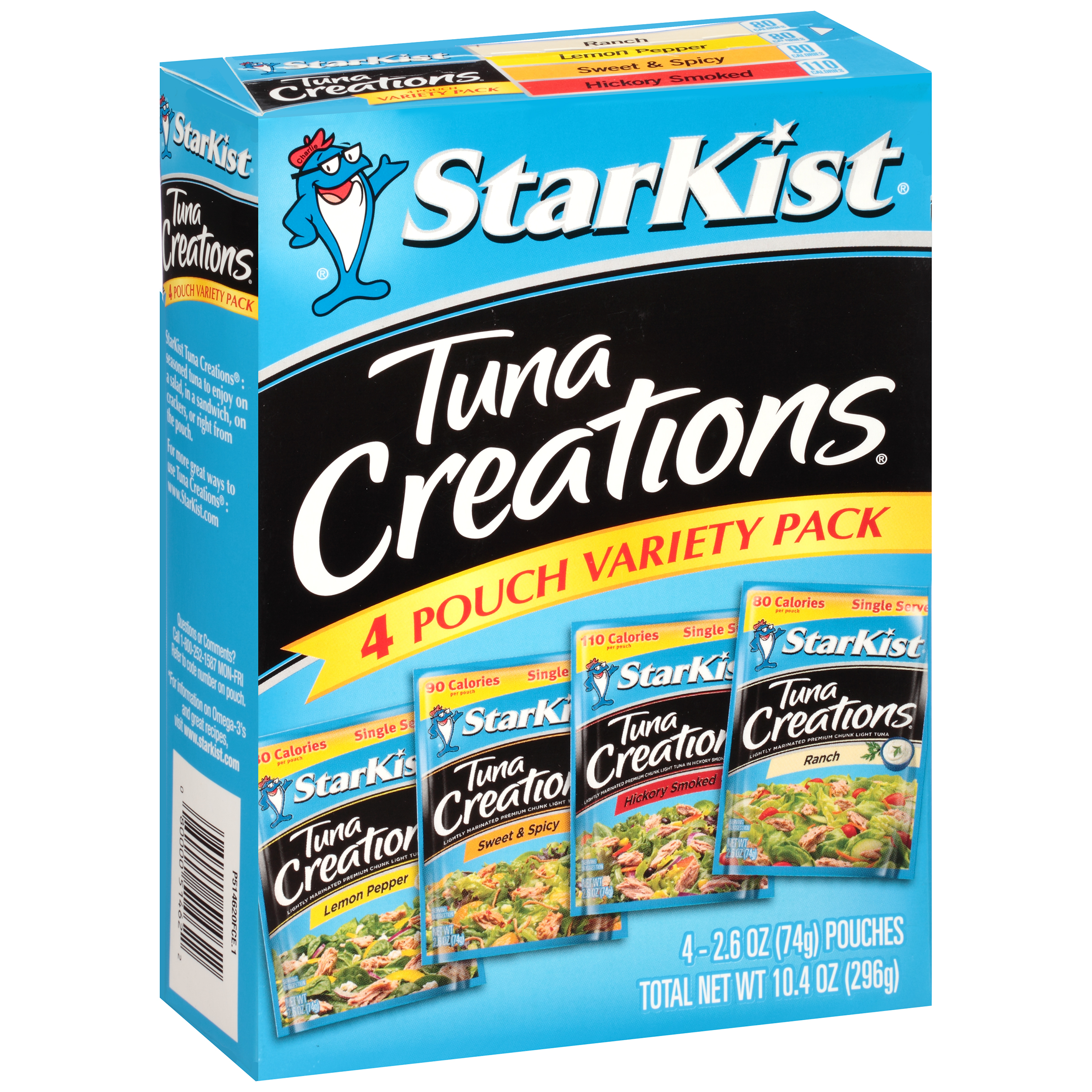 (3 Pack) StarKist Tuna Creations Variety Pack - 2.6 Ounce Pouch, Pack of 4 (Multiple Flavors)