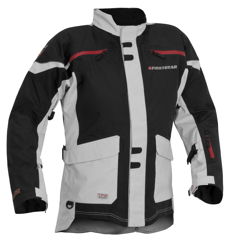 Firstgear TPG Rainer Jacket Black/Silver (Black, X-Large Tall)
