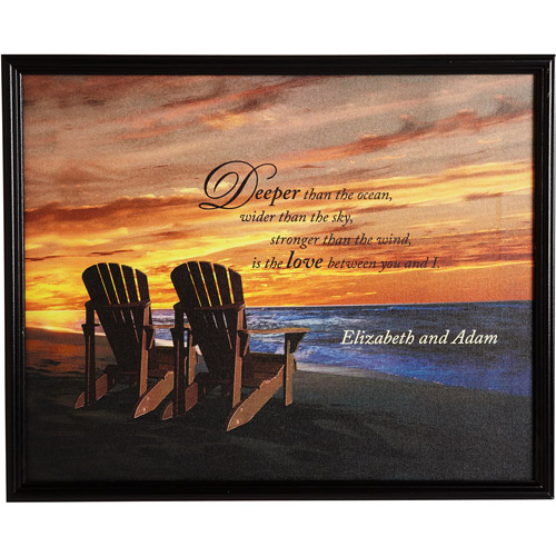 Personalized Framed Beach Chair Canvas