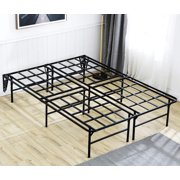 "TATAGO 16"" Heavy Duty Bed Frame Queen Size with 2 Set Headboard Bracket, 3000lbs Max Weight Capacity Metal Platform, No Box Spring Needed"