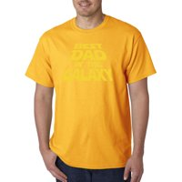 Trendy USA 715 - Unisex T-Shirt Best Dad in The Galaxy Star Wars Opening Crawl XL Navy