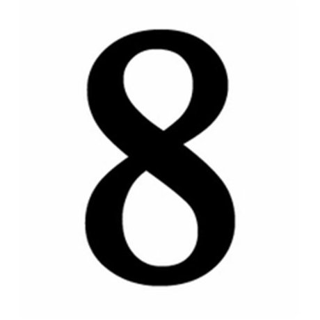 Number 8 Clipart Black And White Village Wrought...