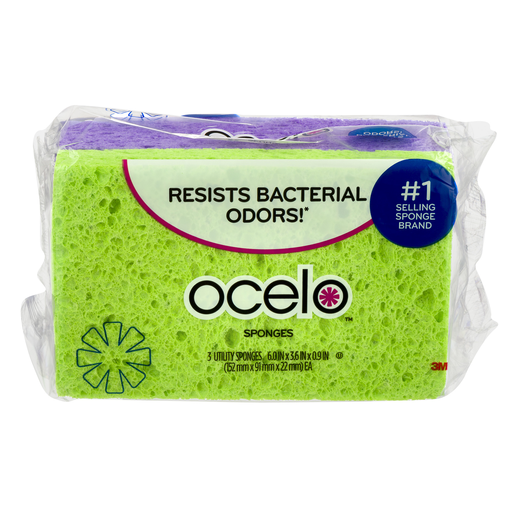 Ocelo™ Utility Sponges - 3 CT
