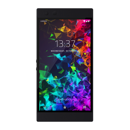 Unlocked Wireless Cell Phone - Razer Phone 2: Unlocked Gaming Smartphone – 120Hz QHD Display – Snapdragon 845 – Wireless Charging – Razer Chroma – 8GB RAM – 64GB – Mirror Black Finish
