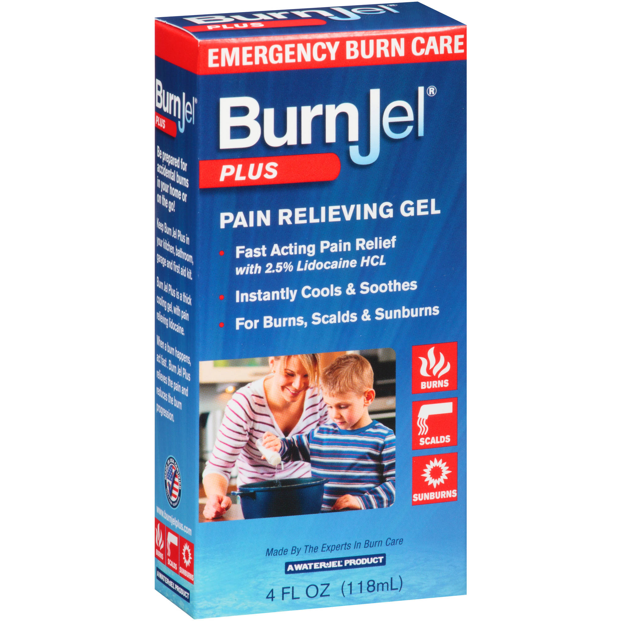 Water-Jel: Pain Relieving Lidocaine Hcl Burn Jel, 4 Fl Oz