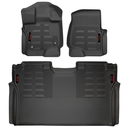 Gator 79611 Black Front and 2nd Seat Floor Liners Fits 15-19 Ford F-150 SuperCrew