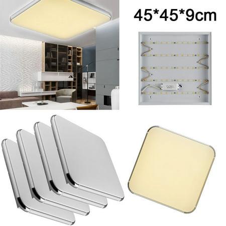 4x 24W Square LED Ceiling Light Living Dining Room Bedroom Corridor Lamp