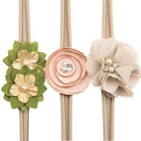 Baby Girl Toddler Headband High Elastic Nylon Flower Design Little Girls  Party Hair Delicate Band 47ce4ca83e7