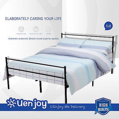 Uenjoy Metal Bed Frame Platform Headboards with 6 Legs Full Size Furniture Bedroom, Black by Uenjoy