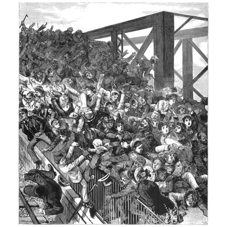 Brooklyn Bridge Panic 1883 Nthe Panic Of 30 May 1883 When A Week After The Opening A Dozen People Were Killed In The Stampede Caused By The Belief That The Bridge Was Collapsing Contemporary Line (Best Way To Kill People)