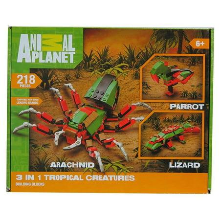 - Animal Planet Arachnid, Parrot, Lizard 3 In 1 Tropical Creatures 218 Pieces