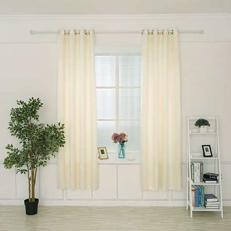 DL furniture - Semi Transparent Layer Triple Weave Thermal Insulated Blackout Grommet Window Curtain 53