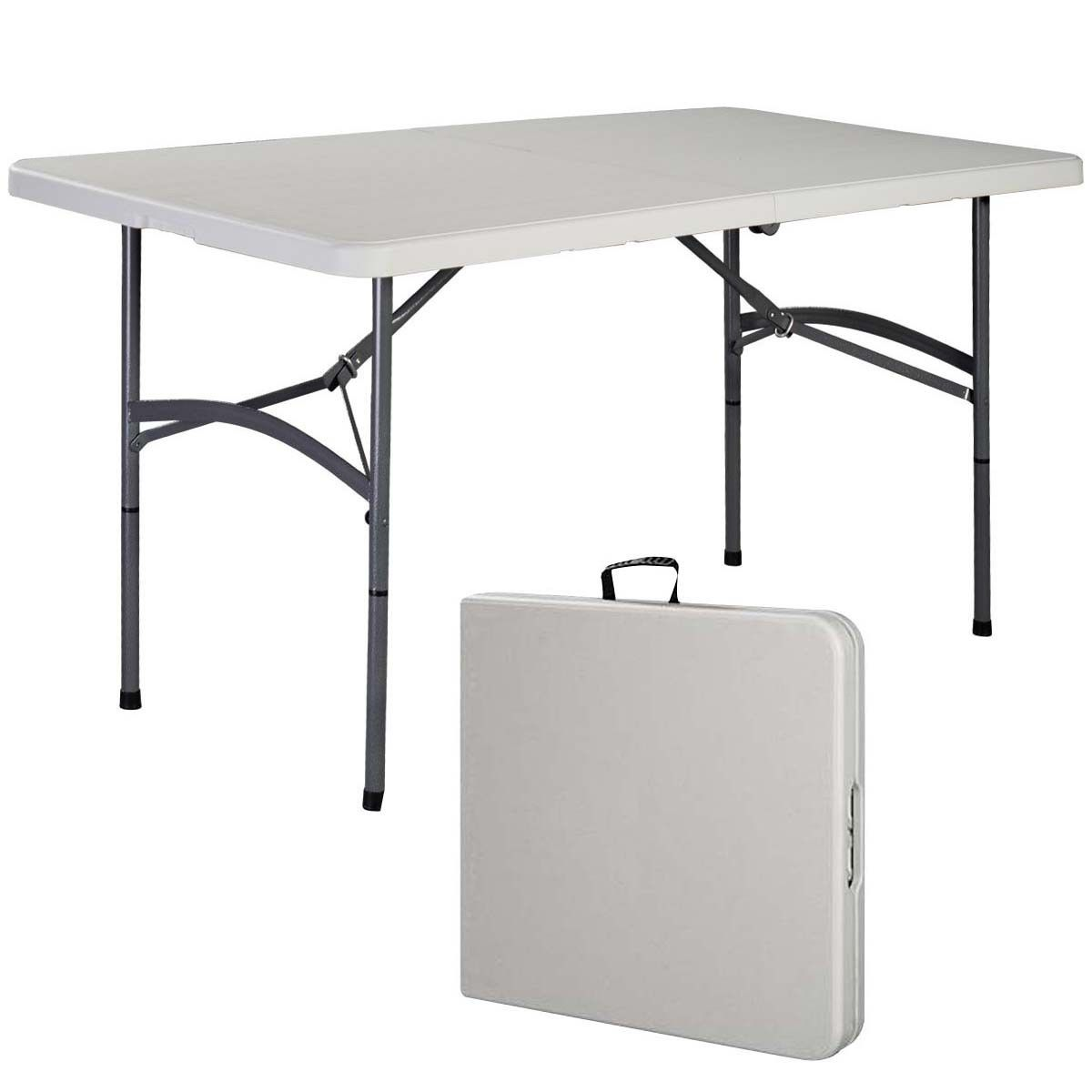 Costway 5' Folding Table Portable Plastic Indoor Outdoor Picnic Party Dining Camp Tables by Costway