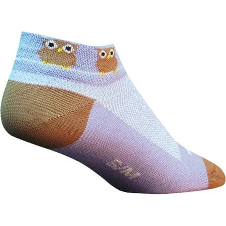 SockGuy Women's Owls Sock: Lavender/Brown SM/MD