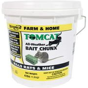 Tomcat All Weather Bait Chunx, 4 Lb, Tougher than a barnyard cat for controlling rats and mice By Motomco