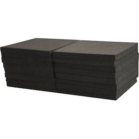 XCEL Foam Rubber Padding - 16-Piece Acoustic Damper Anti-Vibration Closed-Cell Pads, 3'x3'x1/4' ()