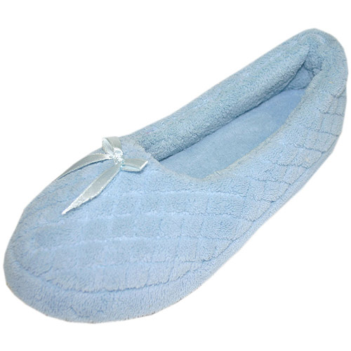 MUK LUKS - Quilted Micro Chenille Ballerina Slippers