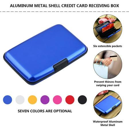 HC-TOP Waterproof Business ID Credit Card Wallet Holder Aluminum Metal Case Box - image 4 of 6