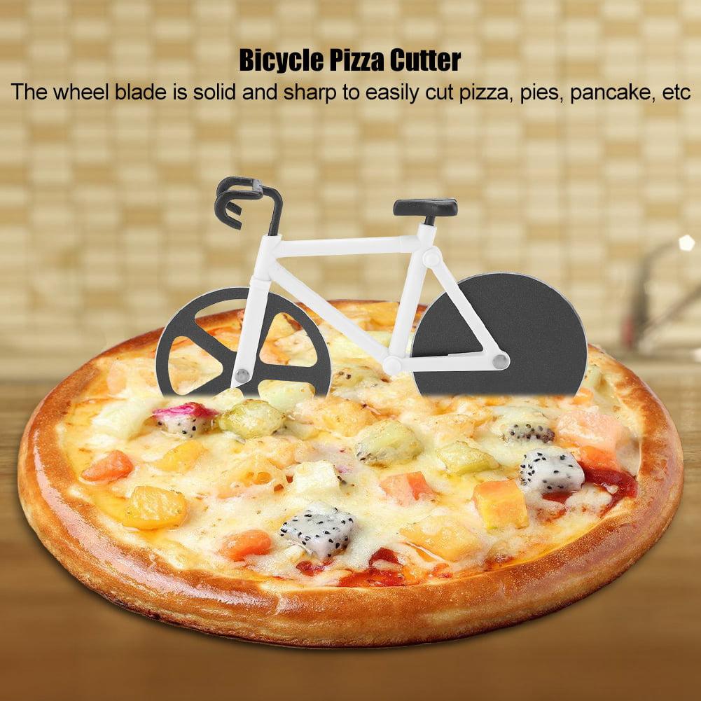 jaune outil de coupeur de roue de pizza de v/élo de trancheur de pizza dacier inoxydable pour la cuisine /à la maison rouge Coupeur de pizza de bicyclette