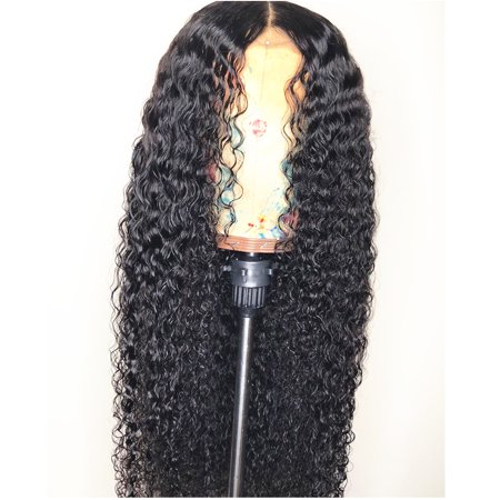 AISOM Malaysian Water Wave Human Hair Lace Front Wigs Pre plucked Hairline with Baby Hair,