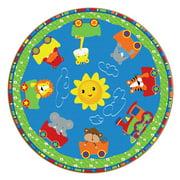 Flagship Carpets Cutie Train Kids Rug