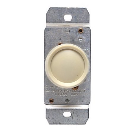 Leviton Ivory 3-Way Rotary Push ON/OFF Light Dimmer Switch 600W (3 Way Dimmer Switch)