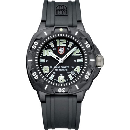 Men's Black Luminox Sentry 0200 Diver's Style Watch 0201.SL