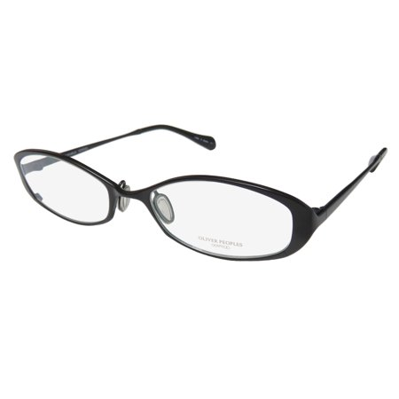 New Oliver Peoples Carel Womens/Ladies Designer Full-Rim Titanium Black Stylish Allergy Free Titanium Frame Demo Lenses 50-17-135 (Oliver Peoples Titanium Frames)