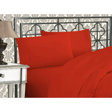 Elegant Comfort? 1500 Thread Count Egyptian Quality 2pcs PILLOW CASES - ALL SIZES AND COLORS, Queen, Rust - image 2 de 2