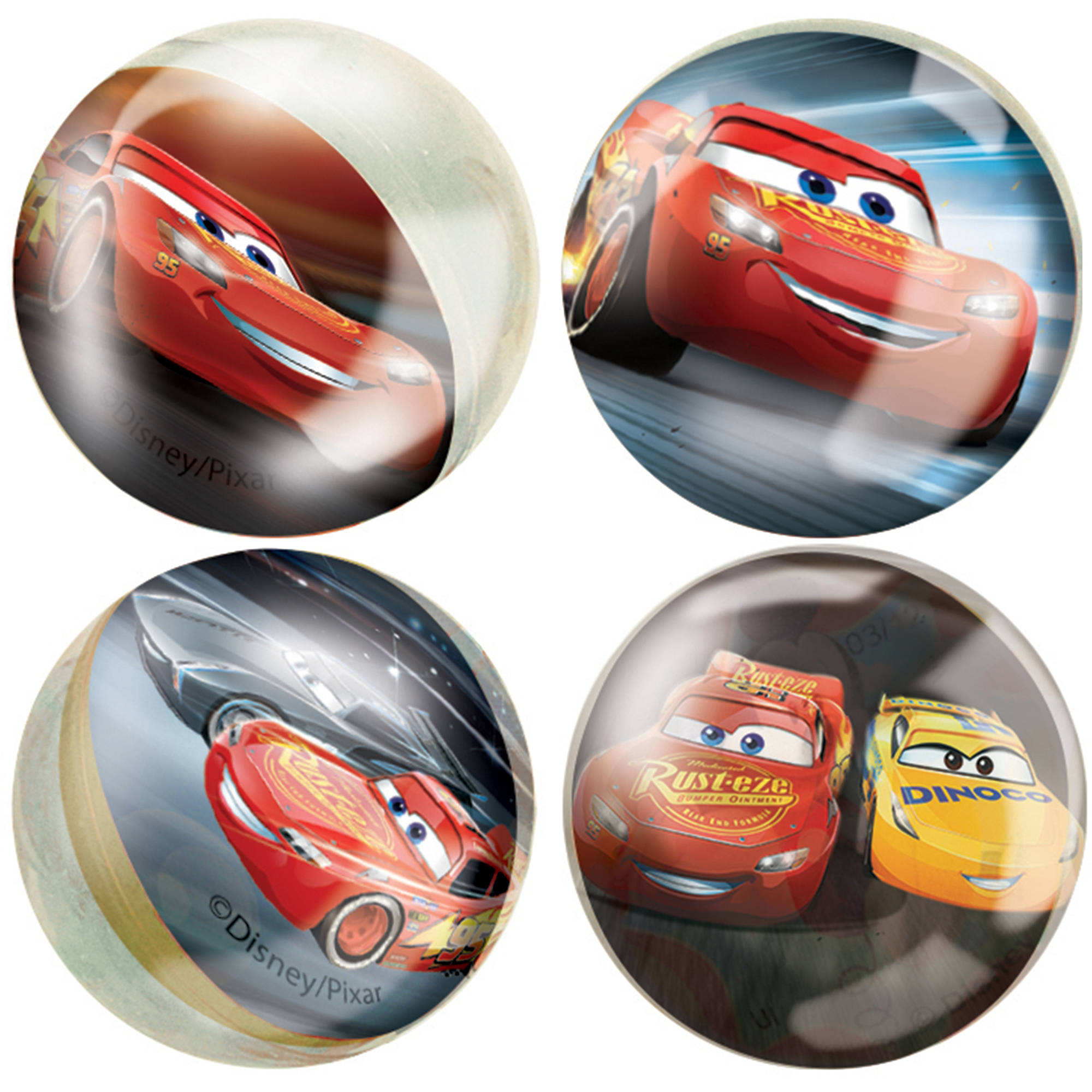 Disney Cars Bouncy Ball Party Favors, 4ct