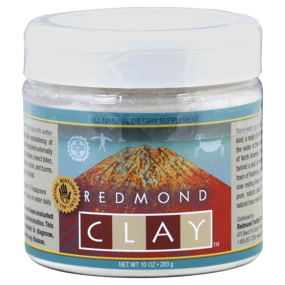Bentonite Clay Facial Mask - 10 oz. by Redmond Trading (pack of 6) Cleansing Foam Cream (salon Size)  200ml/6.65oz
