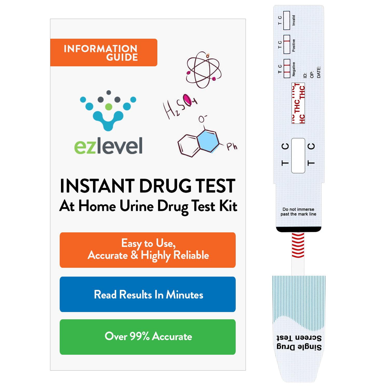 (25 PAck) EZ Level Marijuana THC At Home Urine Drug Test Kit - (25 Tests)