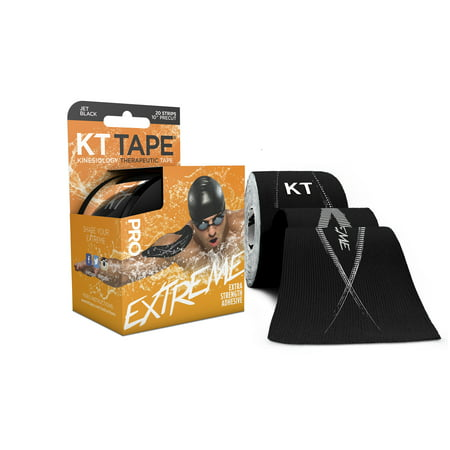 Kt Tape  Pro Extreme Synthetic  Black  20 Ct