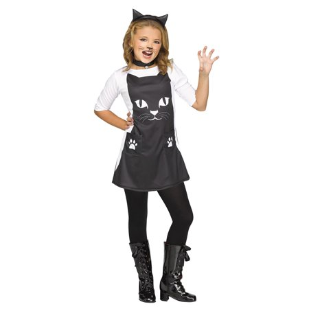 Girls Feline Chic Cat Halloween Costume - Little Girl Black Cat Costume