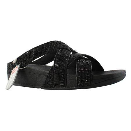 9ff00fa4dd7 FitFlop - FitFlop Womens Black Slide Sandals Size 6 New - Walmart.com