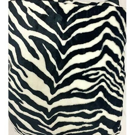 WPM's Queen Blanket Sumptuously Soft Plush Flannel Mega Throw/reversible Bedspread Jungle Animal leopard zebra print Rio (BlackWhite Zebra) ()