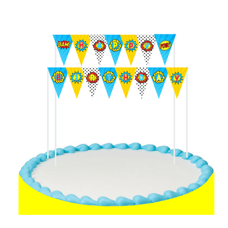 Cake Table Banner (Super Hero Cake Decoration Bunting Banner)