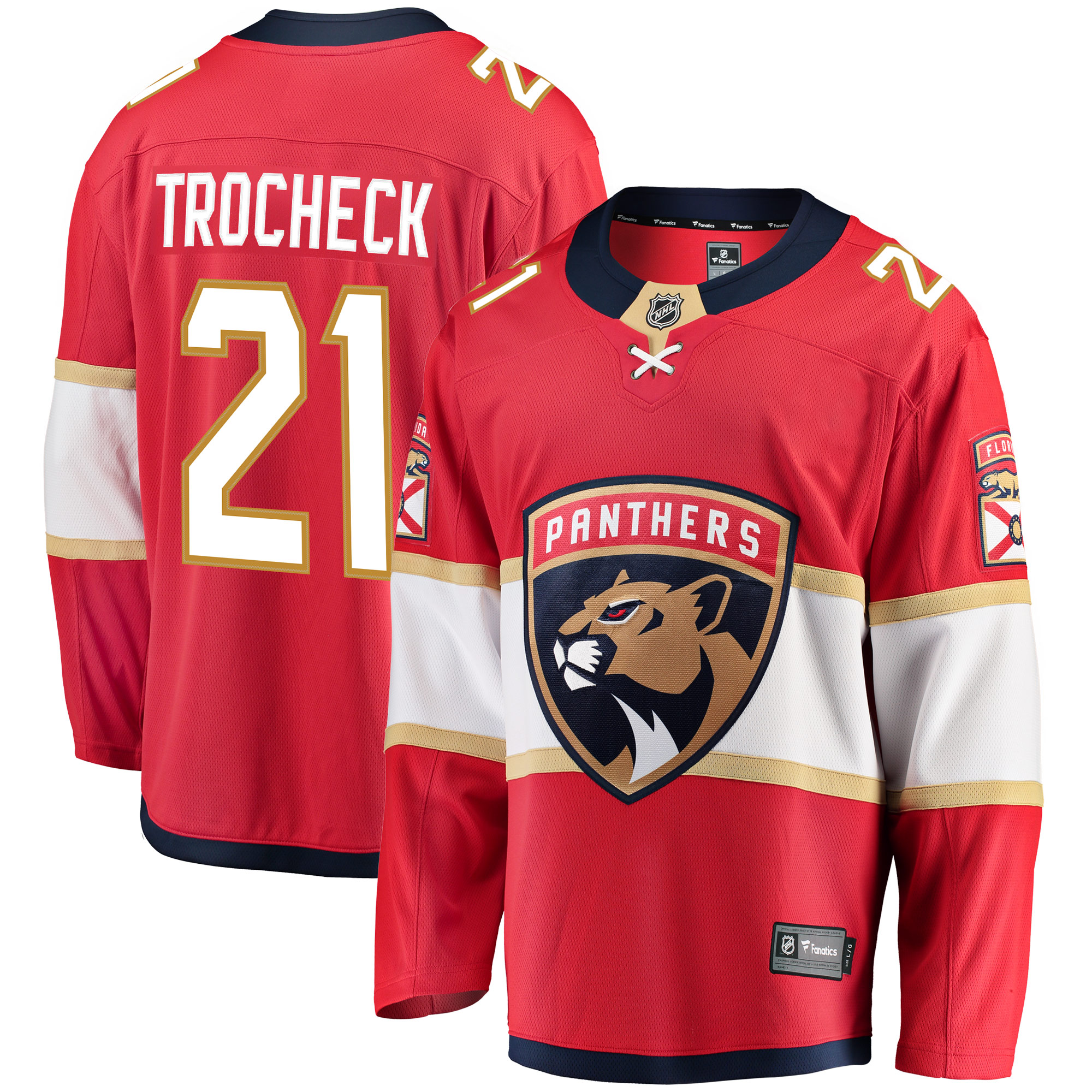Vincent Trocheck Florida Panthers Fanatics Branded Breakaway Jersey - Red