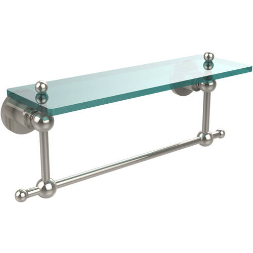 "Astor Place 16"" Glass Vanity Shelf with Integrated Towel Bar (Build to Order)"
