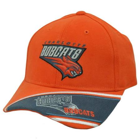 Charlotte Cap - Nba Official Charlotte Bobcats Cap Hat Orange Adj New