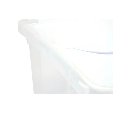 Sterilite 1914 Single 48 Quart Clear Base Hinged Lid Storage Box Tote Container - image 2 de 12